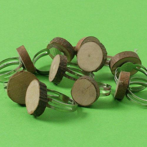 나무반지(10개)/ 만들기 만들기패키지 엄마표미술놀이 홈미술 부모참여수업 만들기재료 어린이집 유치원